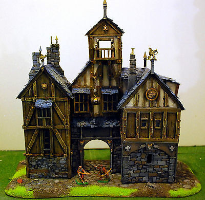 "WARHAMMER age of sigmar WAR GAME SCENERY ""BIG EMPIRE TIPICOL PALACE"" PRO PAINTED"