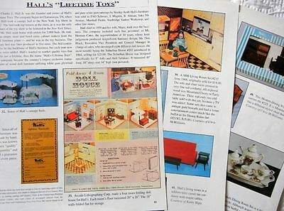 14p History Article + ID Pics  Antique Hall's Lifetime Toys Doll House Furniture