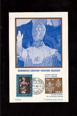 Vatican 1963 Maximum Card With #345, Opening Of The Second Ecumenical Council !!