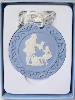 Wedgwood SANTA with PRESENT Christmas Tree Ornament, **NEW in BOX**, 2 avail.