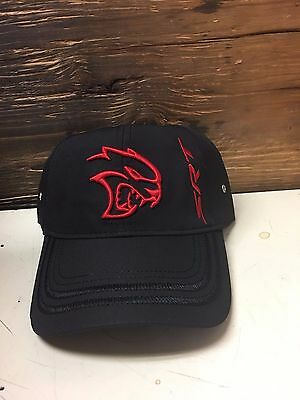 New Srt Hellcat Black Cap With Red Logo! One Size Fits All