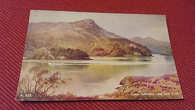 R&L Postcard: Loch Katrine and Ben A'An, Unposted, Valentine Art Colour