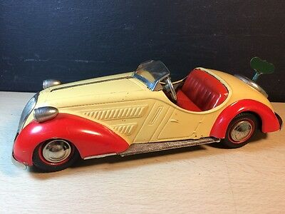 Rolls Royce Wind Up Toy Car Made in US Zone Germany Tin Model Auto