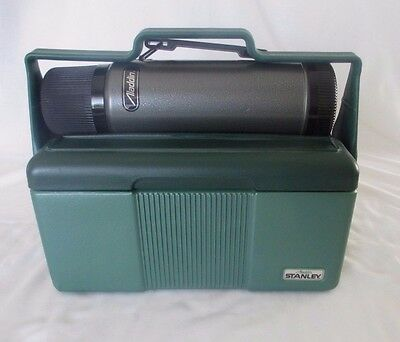 Vintage Stanley Aladdin Lunchbox Cooler Thermos Bottle Combo Boilermakers Pittsb