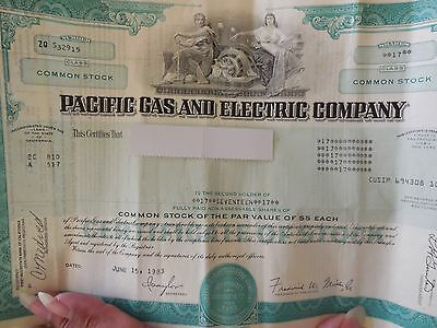 P.G. and E stock certificate! 17 Shares! Active and unredeemed!