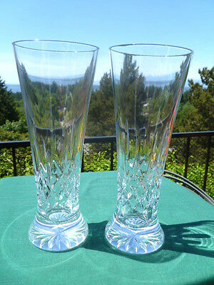 Waterford LISMORE Pilsner Glasses - Set of 2 - Excellent - Free USA Shipping