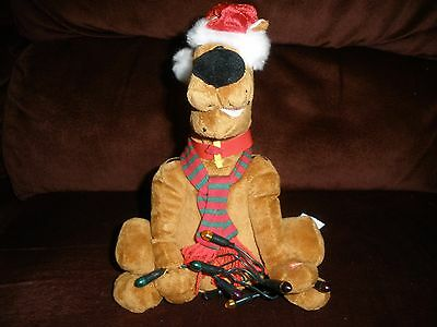 """Gemmy Scooby-Doo Sings """"dashing Through The Snow"""" """"deck The Halls""""  Etc Works"""