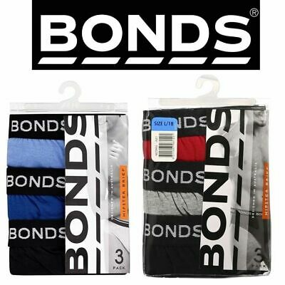 Bonds Mens 3, 6 Or 12 Pairs Hipster Briefs Underwear Jocks Red Navy Blue M L