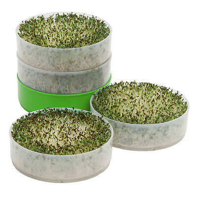 Deluxe 4 Tray Kitchen Seed Sprouter Kit VKP1200 Organic Seeds Included