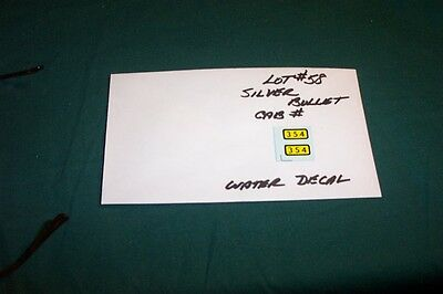 American Flyer Parts - Water Decals for 354 Silver Bullet Loco - 1 pair