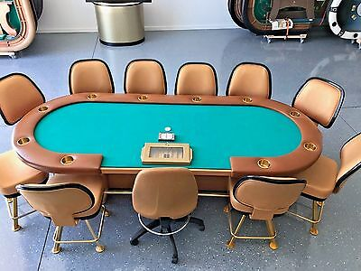 """Poker Table Casino Quality 108""""  #HWC #1/ 11 Chairs"""