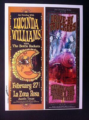 Lucinda Williams Drive By-Truckers DBT Ltd Ed Signed #'d Concert Poster Proof