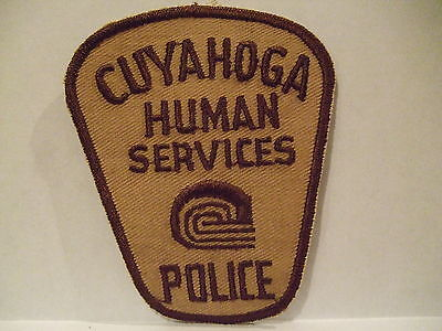 police patch  CUYAHOGA POLICE OHIO  HUMAN SERVICES