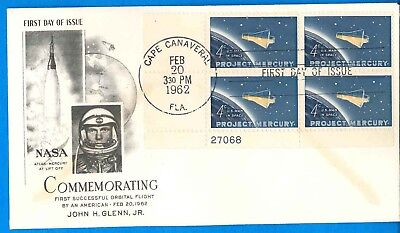 NASA envelope cover vtg 62 Atlas-Mercury LIFT OFF! John GLENN 1st Orbital FLIGHT