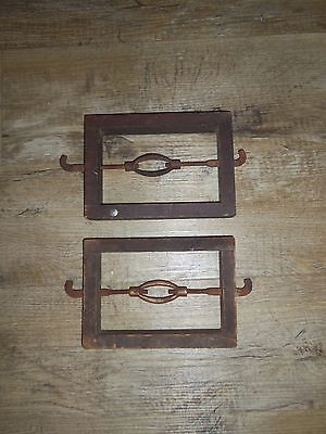 Vintage Headboard/Footboard Display Rails, Set of 2