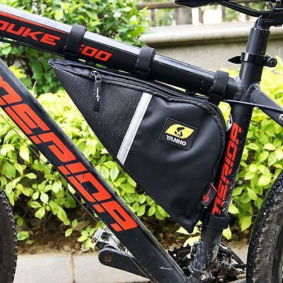 1Pcs Cycling Triangle Frame Bag Bicycle Bike Tube Frame-mount Pack Quick-Access