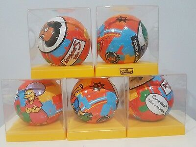 The Simpsons Puzzle Balls In Display Cases X 5 Official Merchandise Collectable