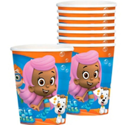 Bubble Guppies 8 Hot Cold Paper 9 oz Cups Birthday Party Supplies