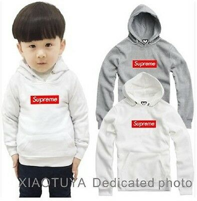 New kids Supreme Classic Hooded Motion Logo Sweatshirt  Jacket Coat 9 colors