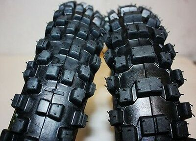 "60/100- 14"" &80/100- 12"" front Rear Knobby Tyre Tire&Tube 110cc Dirt pit Bike HD"