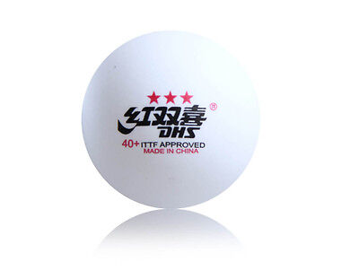 30 x DHS 3 Star 40+ Table Tennis Ball, 2017 CELL-FREE-DUAL, ITTF APPROVED, New