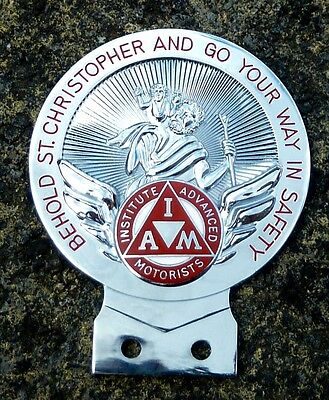 Institute Of Advanced Motorists  St Christopher Car Badge - Iam