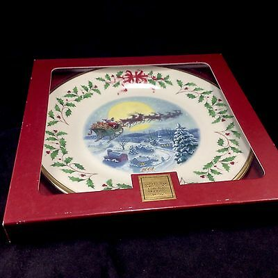 Lenox for the Holidays Christmas 2002 12th Series Collector Plate Santa's Ride