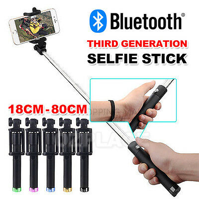 Bluetooth Extendable Handheld Remote Selfie Stick Monopod For iPhone Samsung OZ