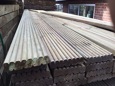 Decking Boards Treated Garden Wooden Tanalised 120 X 28mm 3m