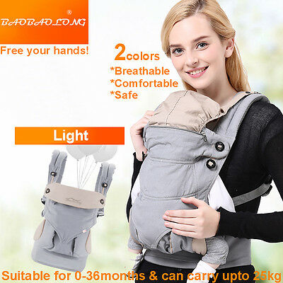 Breathable Baby Newborn Infant Toddler Carrier Front Back Hip 2 Colors