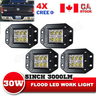 4X5Inch 30W CREE Flush Mount LED Flood Work Light Bar Boat  UTE ATV Wholesale