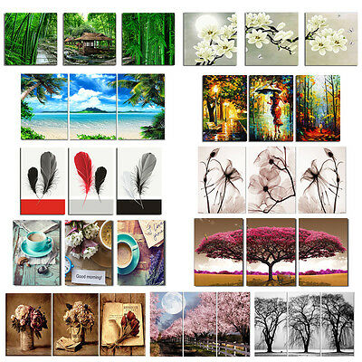 Modern Canvas Art Oil Painting Picture Print Unframed Home Wall Decor 3 Panel