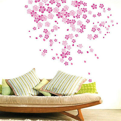 Pink Petal Nursery Wall Decal Removable Sticker for Girls Room