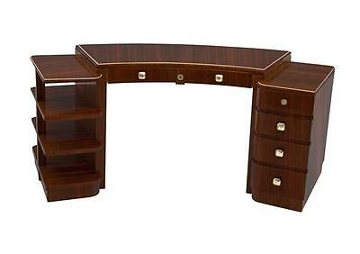 French Art Deco Desk made of Macassar Wood