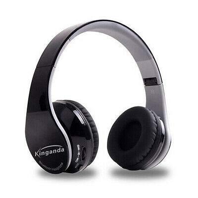 Wireless Bluetooth V4.0 Headset Stereo Headphones for PC Smartphone D5J4