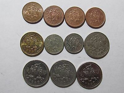 Lot of 11 Different Barbados Coins - 1981 to 2003 - Circulated & Brilliant Unc.