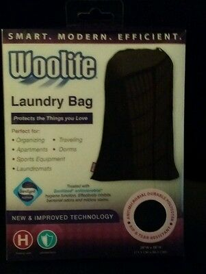New & Improved Technology  Woolite Laundry Bag. Antimicrobial Durable Polyester.