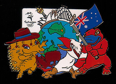 We're on Top of the World Mascots Pin - Jumbo size - Sydney Summer Olympics