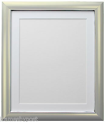 Soda Silver Retro Style Photo Picture Frames & choice of Colour Mounts 29 x 15mm
