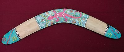 Boomerang Hand painted wooden painted with raised dots