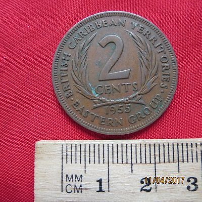 British Caribbean Territories 2 Cents 1955 - Eastern Group
