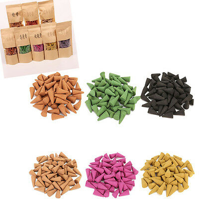 50pcs Conos de Incienso Aromas Fumar Natural Sándalo Lavanda Aromaterapia Decor