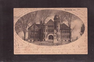 Usa 1906 Used Postcard, Spaulding High School, Barre Vermont !!