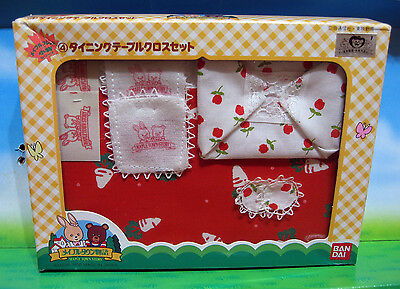 Sylvanian Maple Town Petits Malins Tablecloth japanese very rare vintage boxed