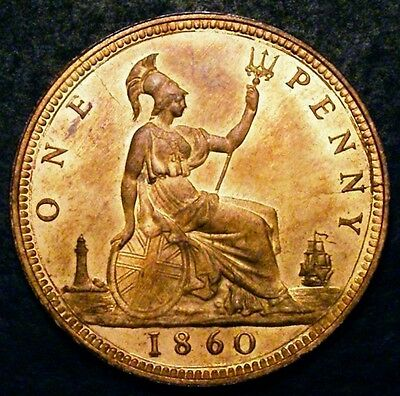 1860 Choice UNC Queen Victoria Penny Freeman 10 CGS 85 ☆☆☆ CGS Joint Finest ☆☆☆