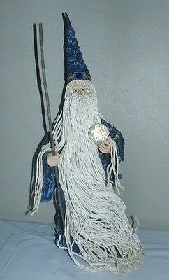 "18"" Porcelain? Wizard - Collectible Statue Figurine Figure  Magic Crystal Ball"