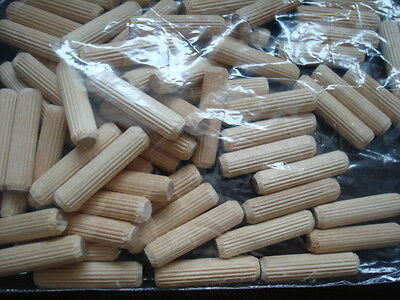 8mm - 30 mm length wooden dowels pins plugs hardwood fluted beech dowel