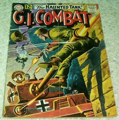 G.I. Combat 96, VG/FN (5.0) 1962 Heath art! 10th Haunted Tank! 40% off Guide!