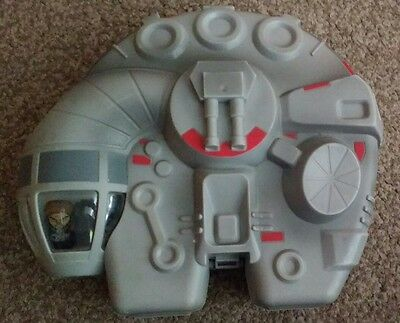 Star Wars Mighty Beanz Millennium Falcon Case & 27 Assorted Beans Millenium