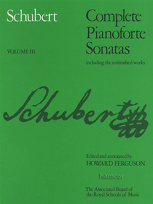 Schubert Complete Pianoforte Sonatas 3 ABRSM Piano Sheet Music Book III